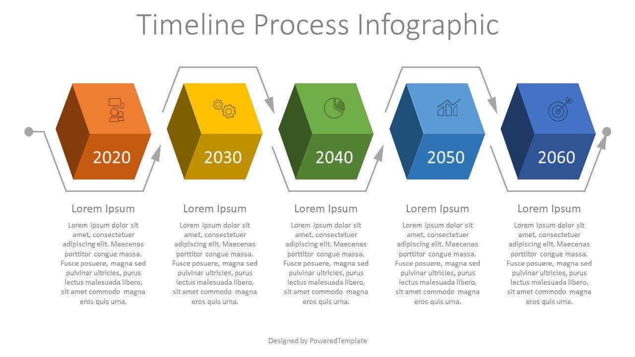 Timeline Process Infographic, 08006, Process Diagrams — PoweredTemplate.com