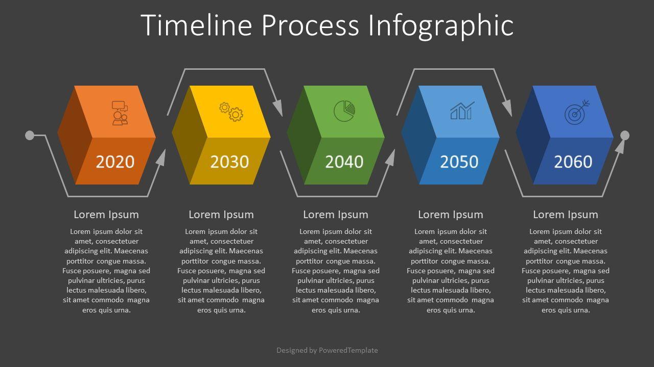 Timeline Process Infographic, Slide 2, 08006, Process Diagrams — PoweredTemplate.com