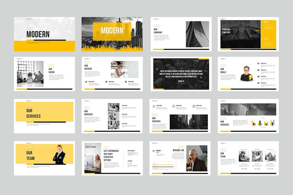 Modern Google Slide Templates, Slide 2, 08013, Business Models — PoweredTemplate.com