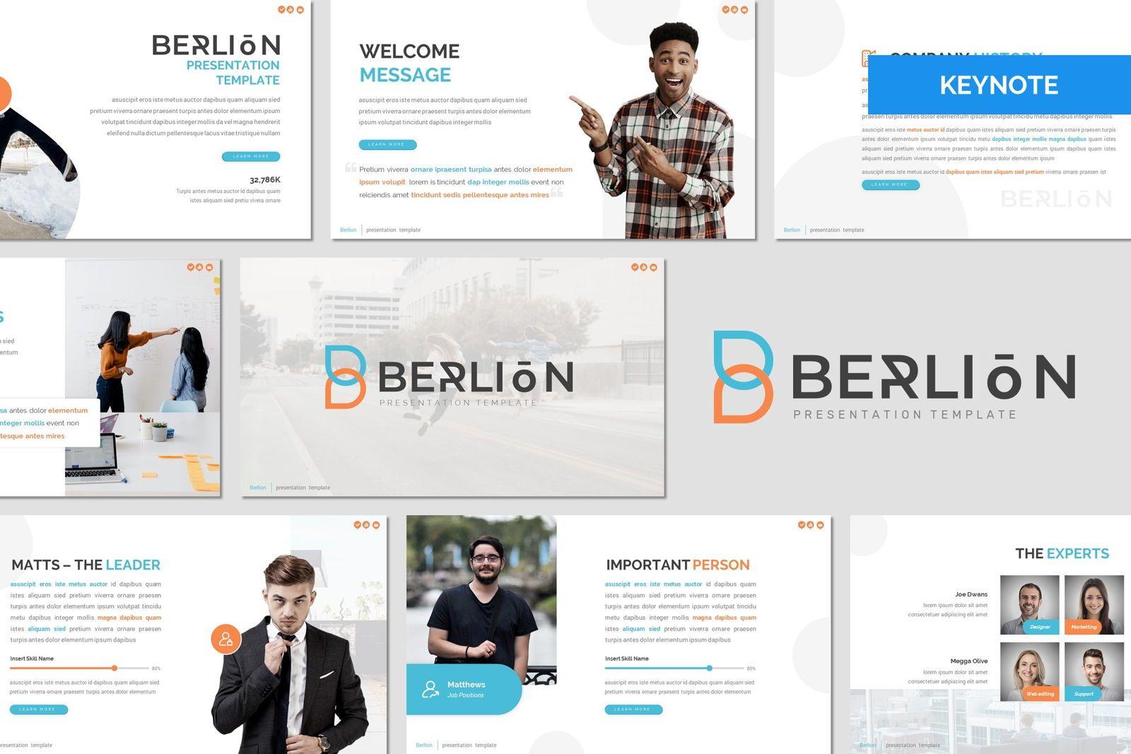 Berlion - Keynote Template, 08014, Presentation Templates — PoweredTemplate.com