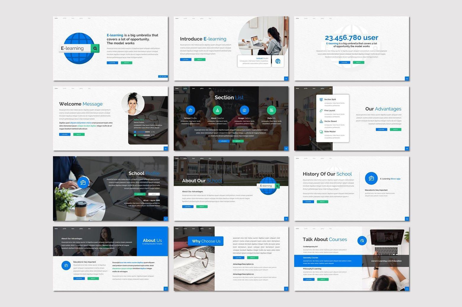 E Learning - Powerpoint Template, Slide 2, 08015, Presentation Templates — PoweredTemplate.com