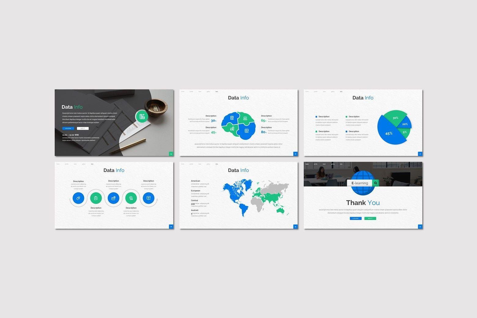 E Learning - Powerpoint Template, Slide 4, 08015, Presentation Templates — PoweredTemplate.com