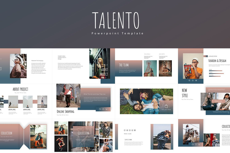 Talento Googleslide Templates, 08016, Business Models — PoweredTemplate.com