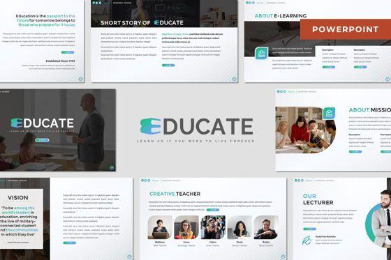 Presentation Templates: Educate - Powerpoint Template #08018