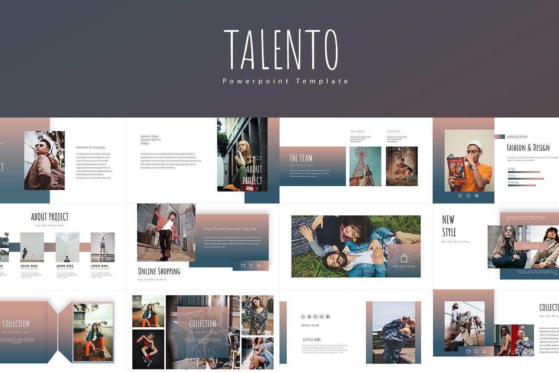 Talento Keynote Tempates, 08024, Business Models — PoweredTemplate.com