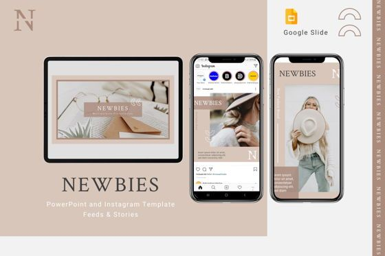 Presentation Templates: Newbies - Google Slides Template #08027