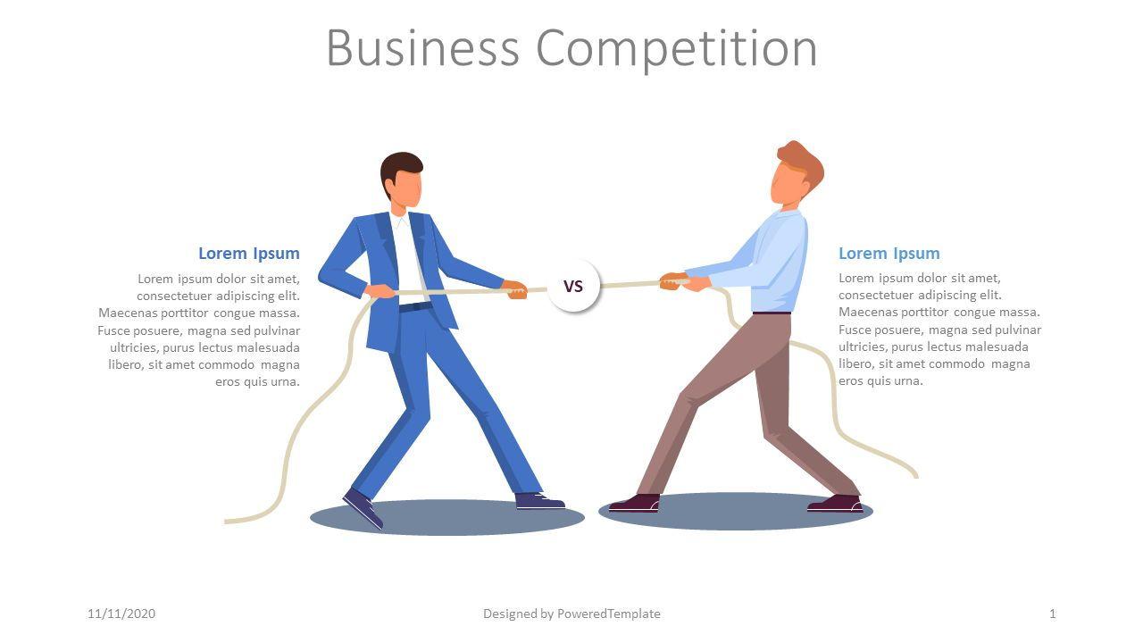 Business Competition Slide, 08028, Presentation Templates — PoweredTemplate.com