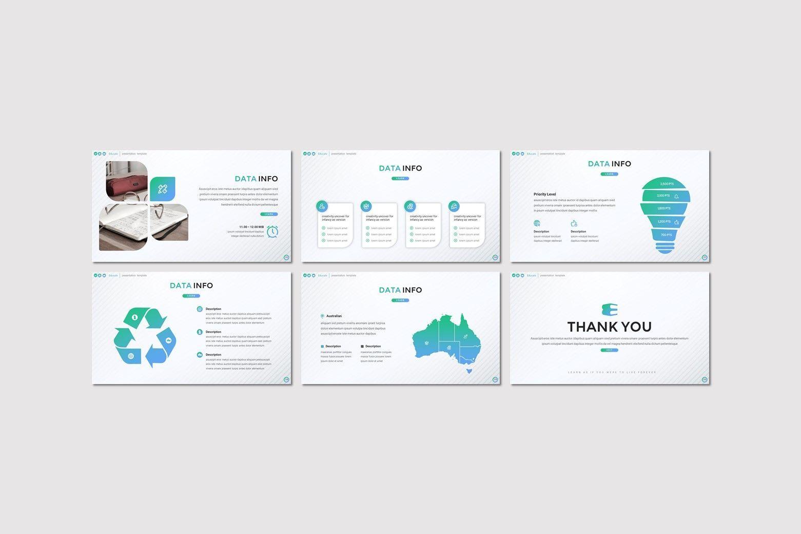 Educate - Keynote Template, Slide 4, 08030, Presentation Templates — PoweredTemplate.com