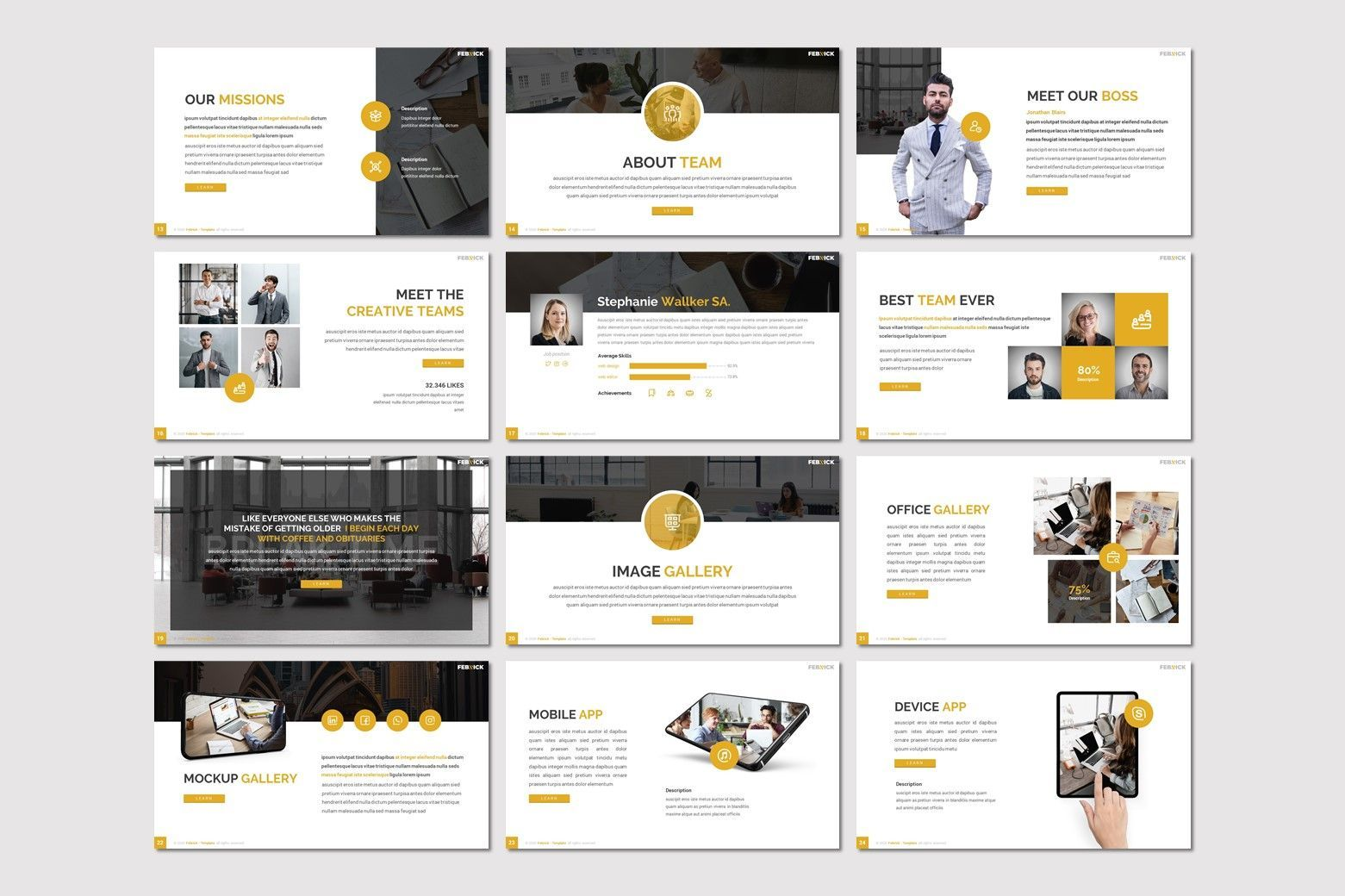 Febrick - Powerpoint Template, Slide 3, 08031, Presentation Templates — PoweredTemplate.com