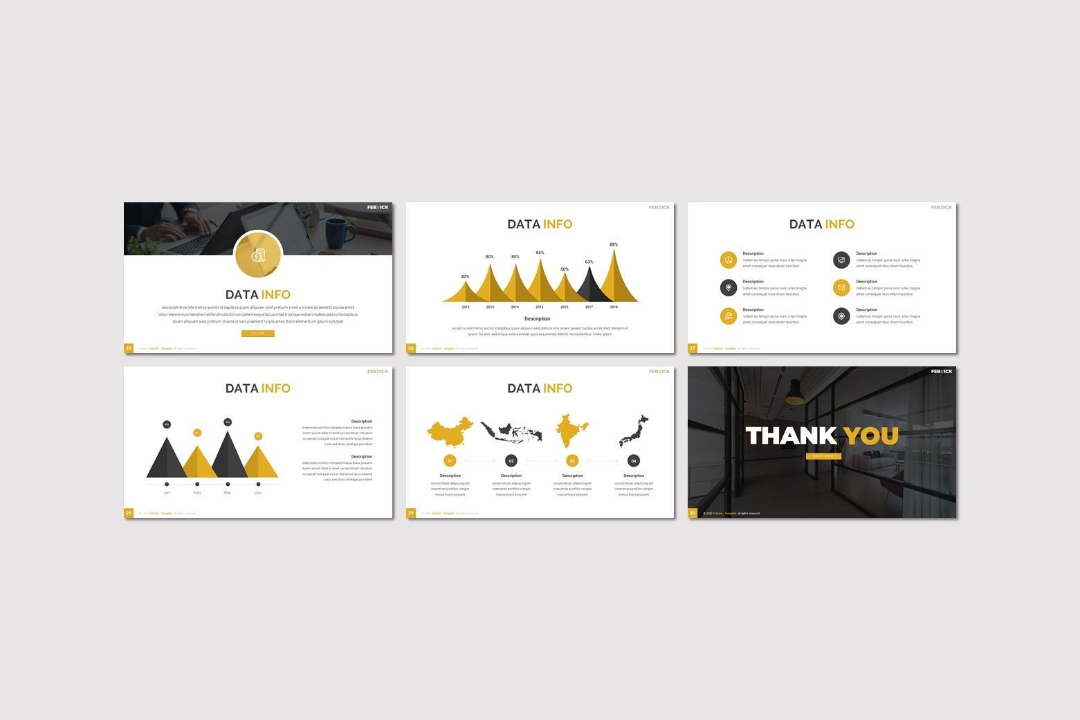 Febrick - Powerpoint Template, Slide 4, 08031, Presentation Templates — PoweredTemplate.com
