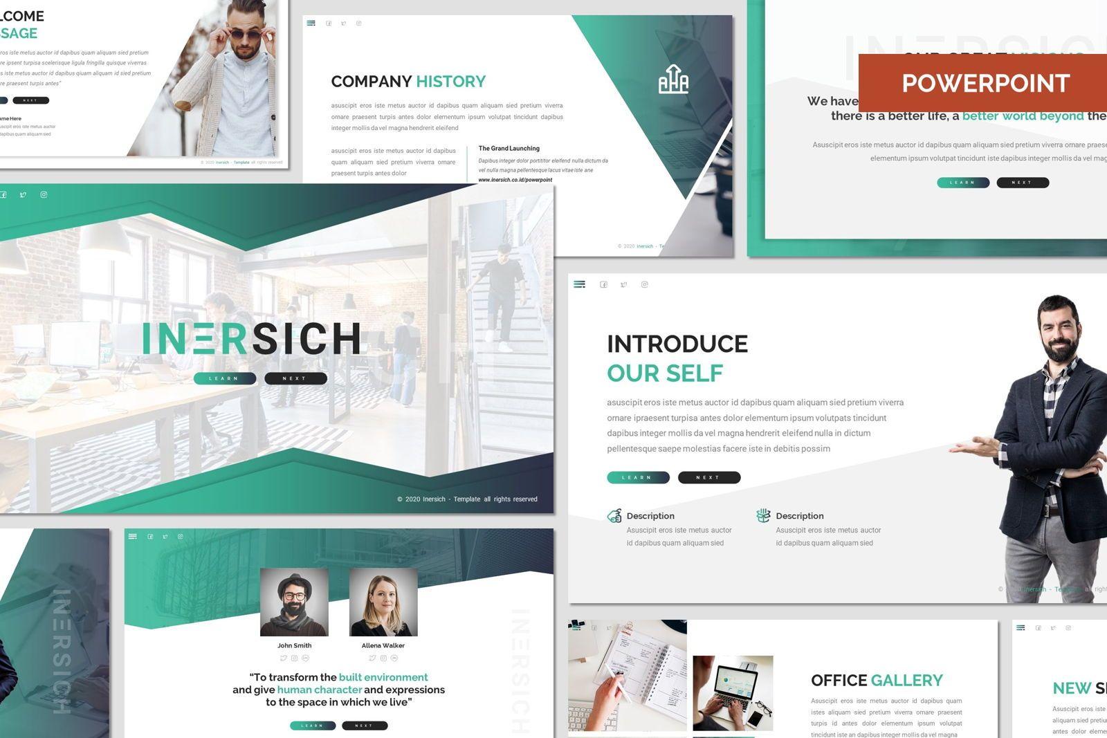 Inersich - Powerpoint Template, 08032, Presentation Templates — PoweredTemplate.com