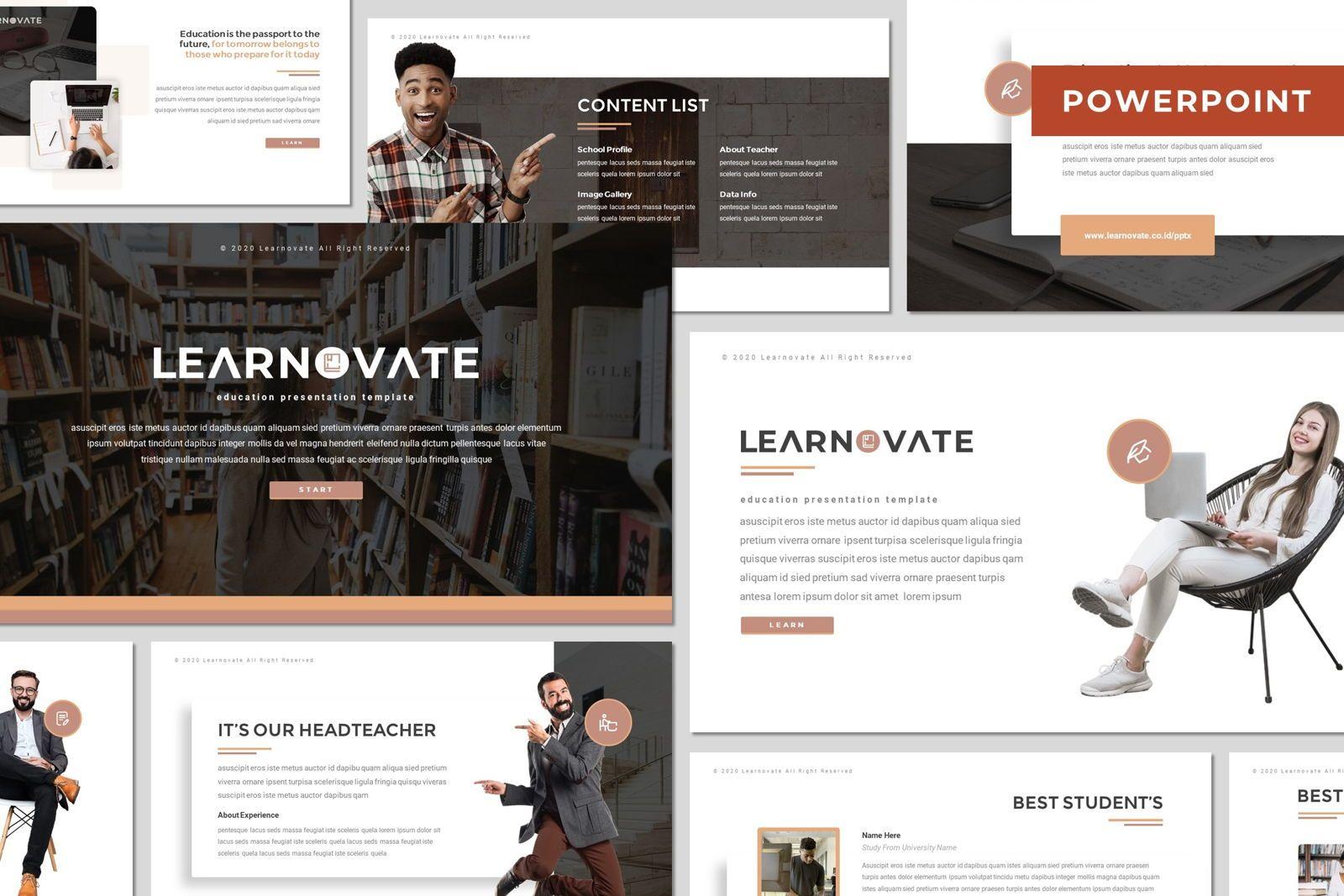 Learnovate - Powerpoint Template, 08033, Presentation Templates — PoweredTemplate.com