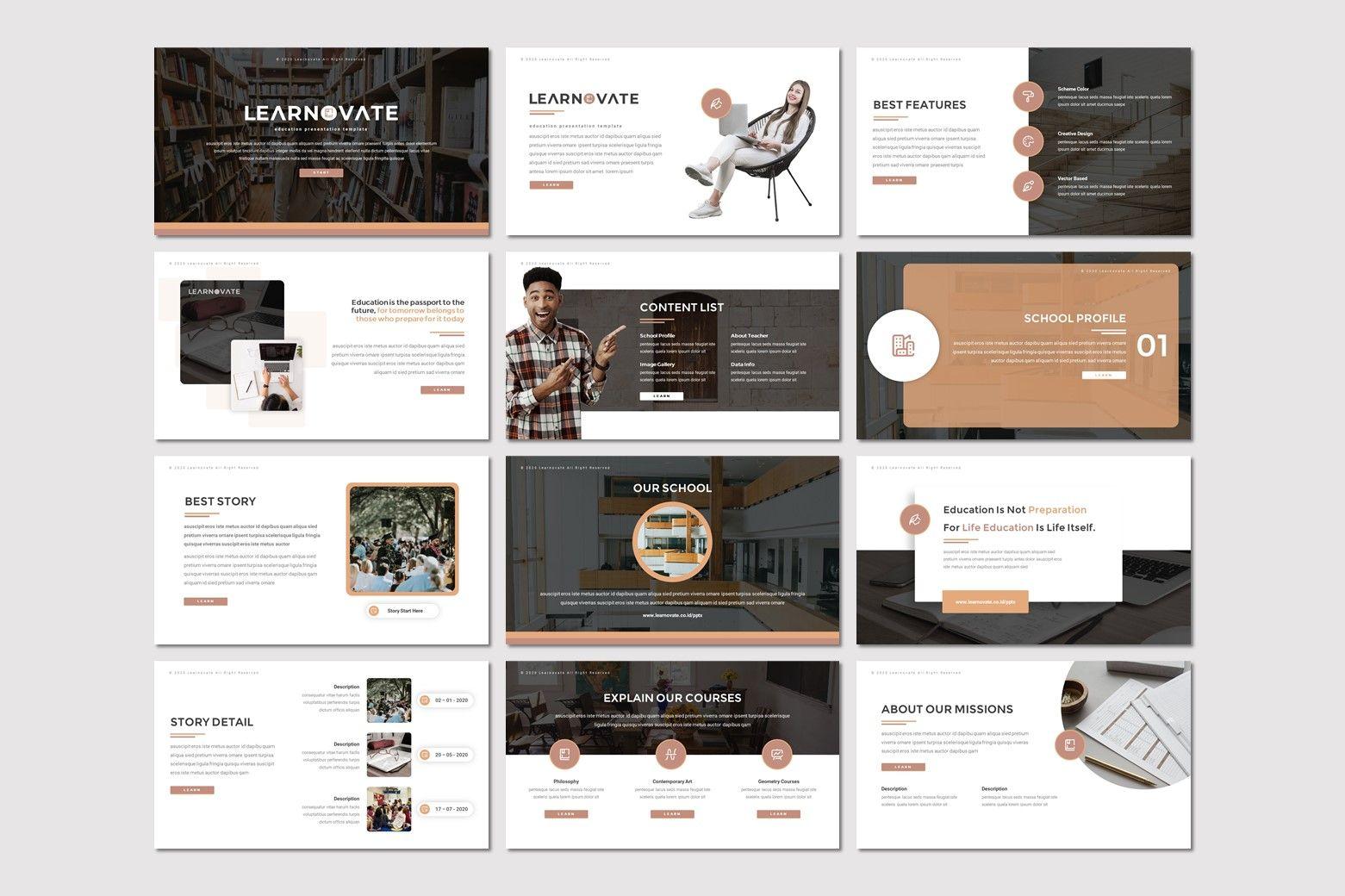 Learnovate - Powerpoint Template, Slide 2, 08033, Presentation Templates — PoweredTemplate.com