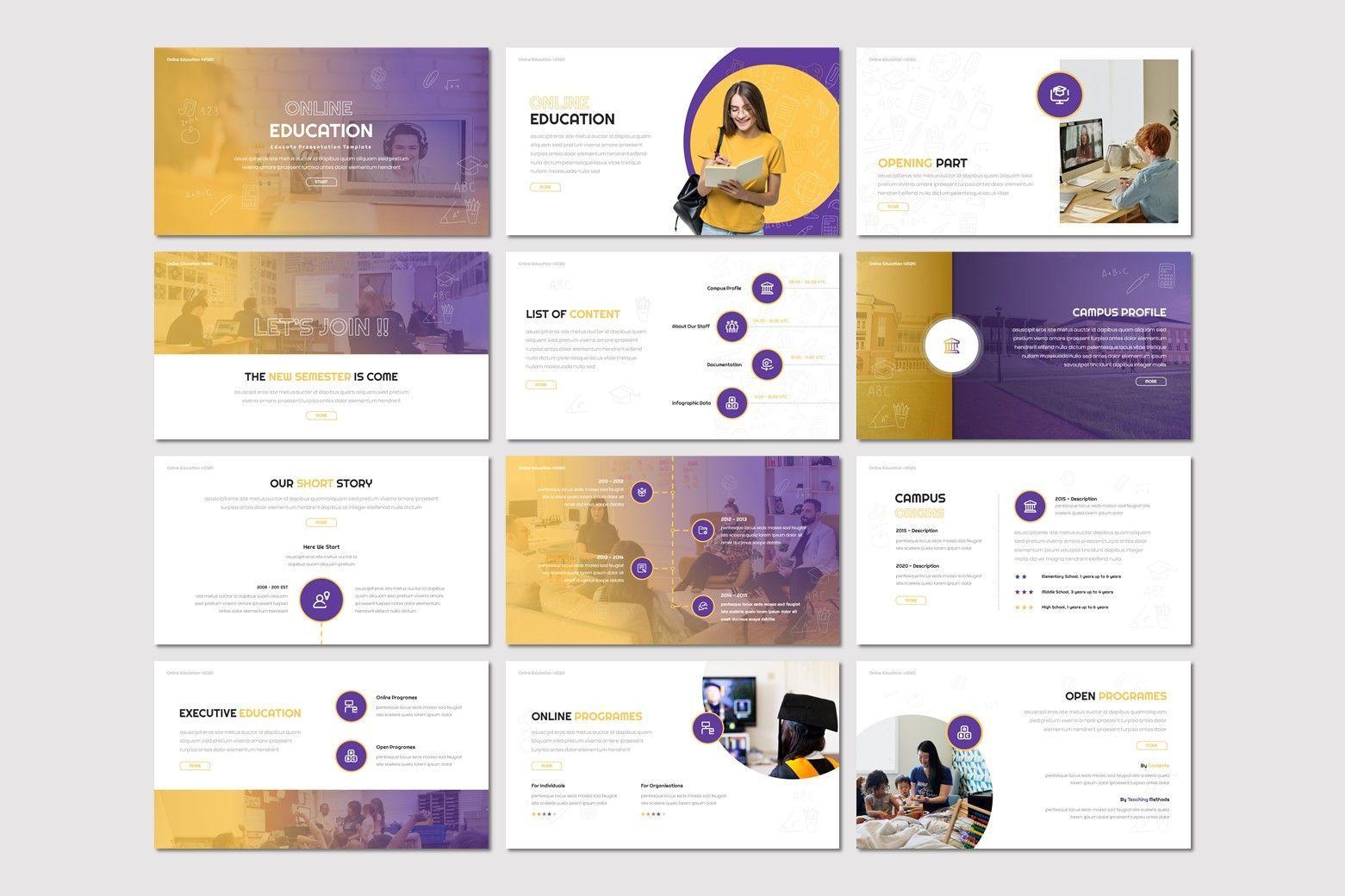 Online Education - Powerpoint Template, Slide 2, 08034, Presentation Templates — PoweredTemplate.com