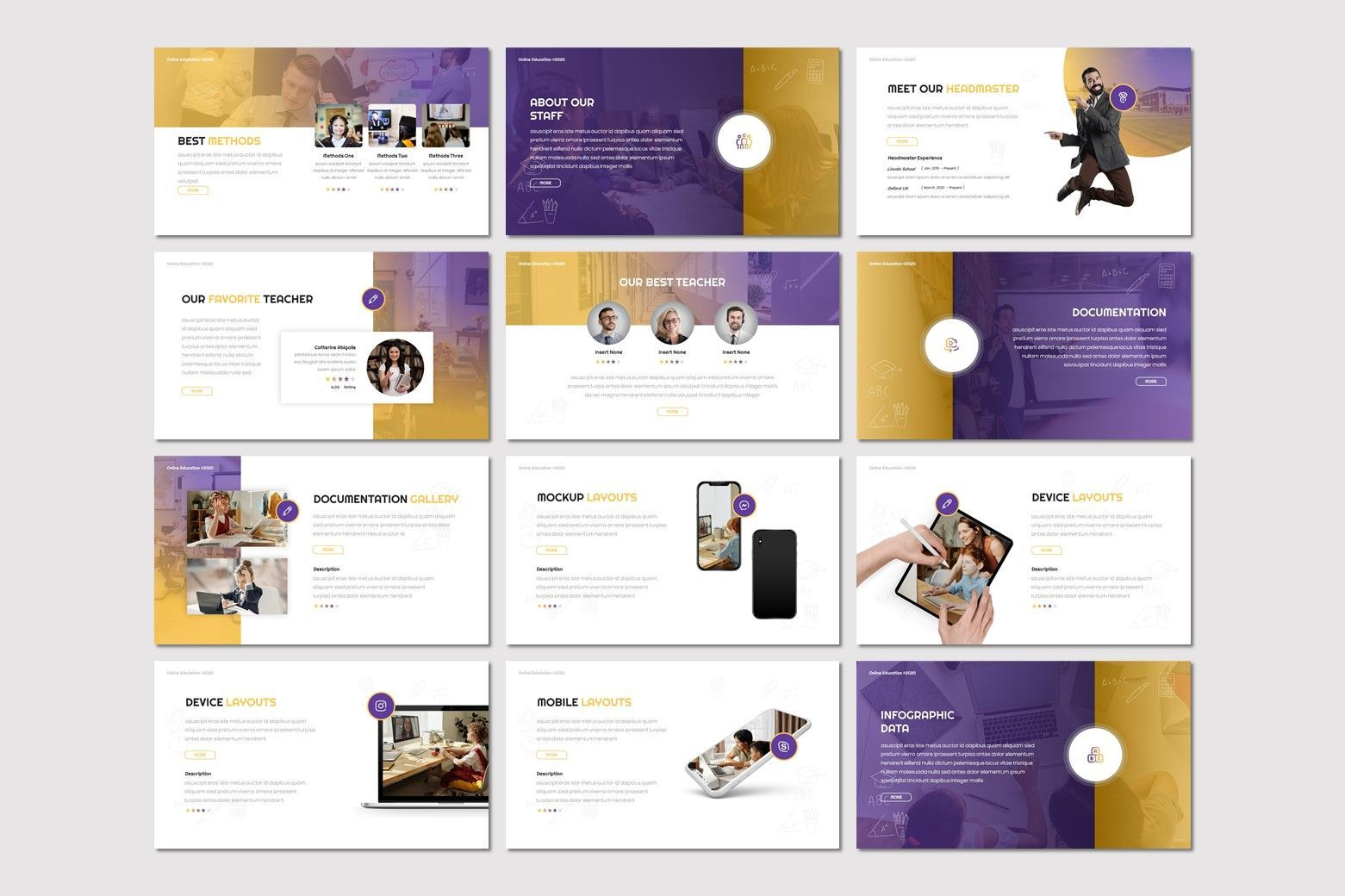 Online Education - Powerpoint Template, Slide 3, 08034, Presentation Templates — PoweredTemplate.com