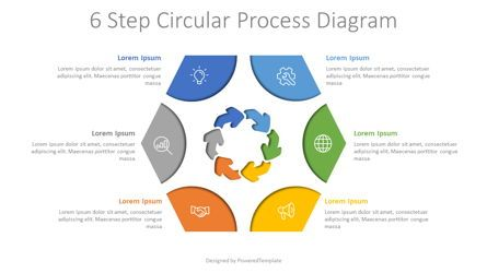 Process Diagrams: 6 Step Circular Process Diagram #08035