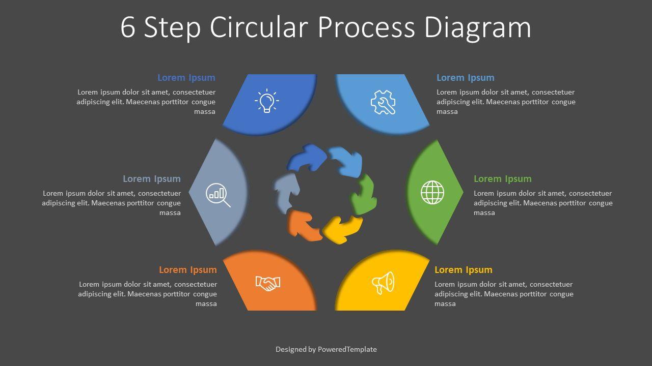6 Step Circular Process Diagram, Slide 2, 08035, Process Diagrams — PoweredTemplate.com