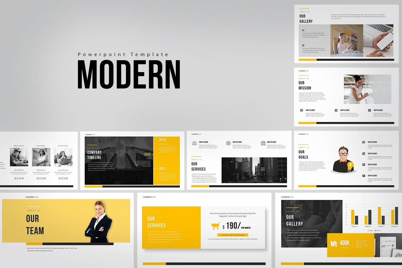 Modern PowerPoint Presentation, 08036, Business Models — PoweredTemplate.com