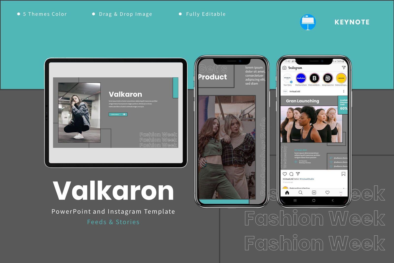Valkaron - Keynote Template, 08039, Presentation Templates — PoweredTemplate.com
