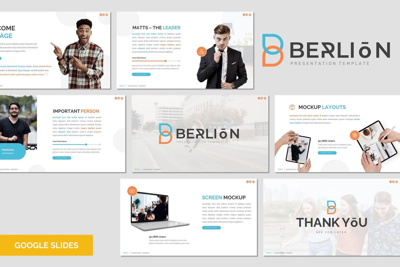 Berlion - Google Slides Template, 08041, Presentation Templates — PoweredTemplate.com