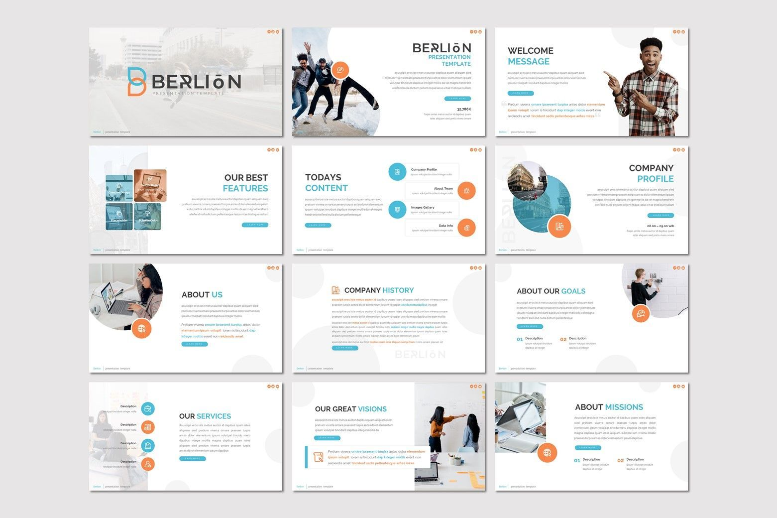 Berlion - Google Slides Template, Slide 2, 08041, Presentation Templates — PoweredTemplate.com