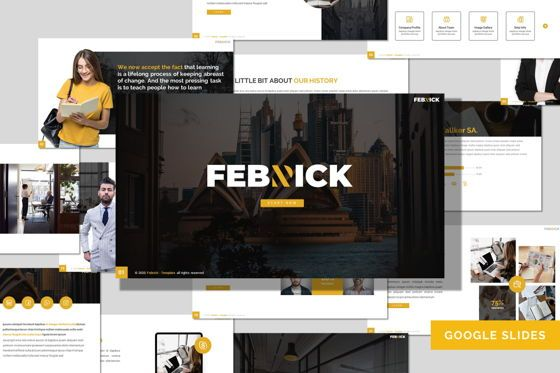 Presentation Templates: Febrick - Google Slides Template #08042