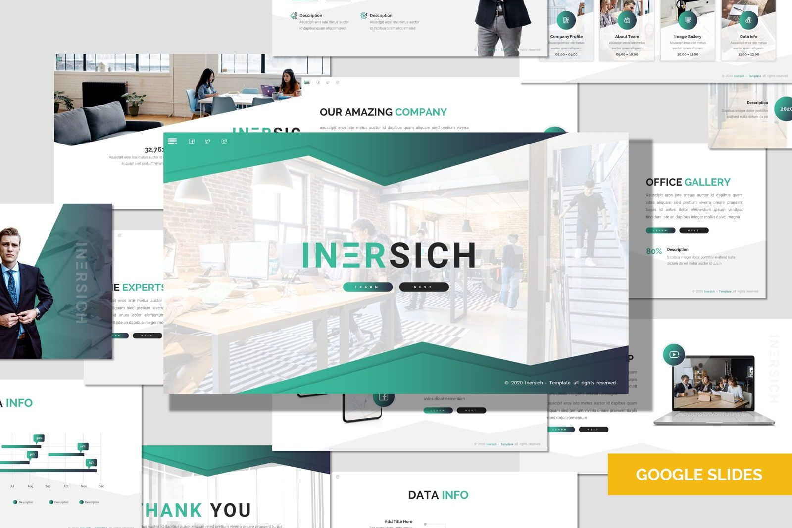 Inersich - Google Slides Template, 08043, Presentation Templates — PoweredTemplate.com