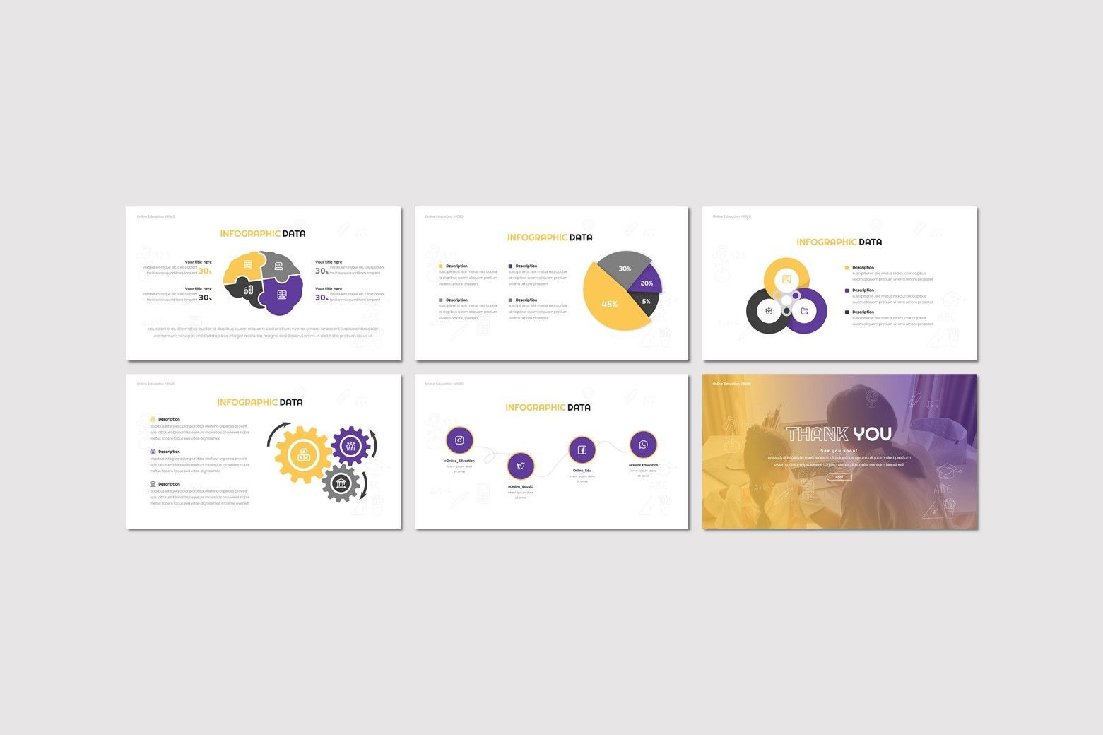 Online Education - Google Slides Template, Slide 4, 08047, Presentation Templates — PoweredTemplate.com