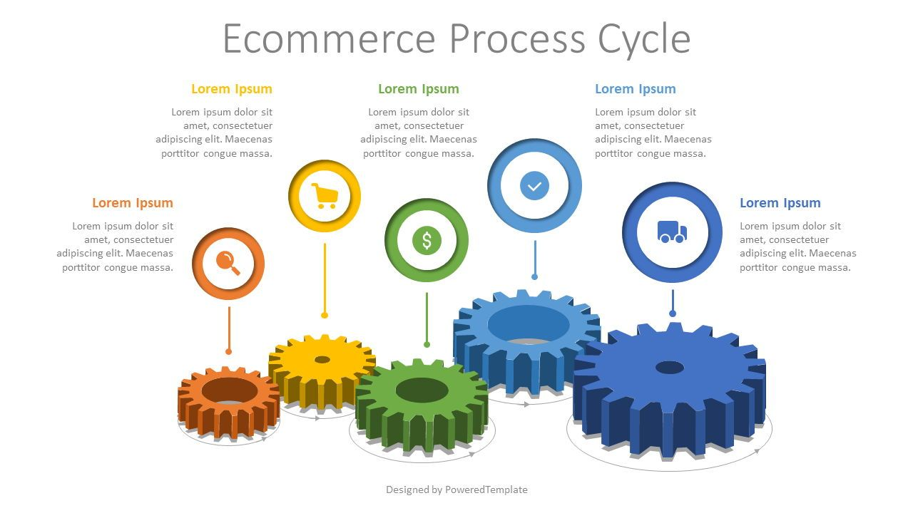 Ecommerce Process Cycle Infographic, Slide 2, 08048, Infographics — PoweredTemplate.com