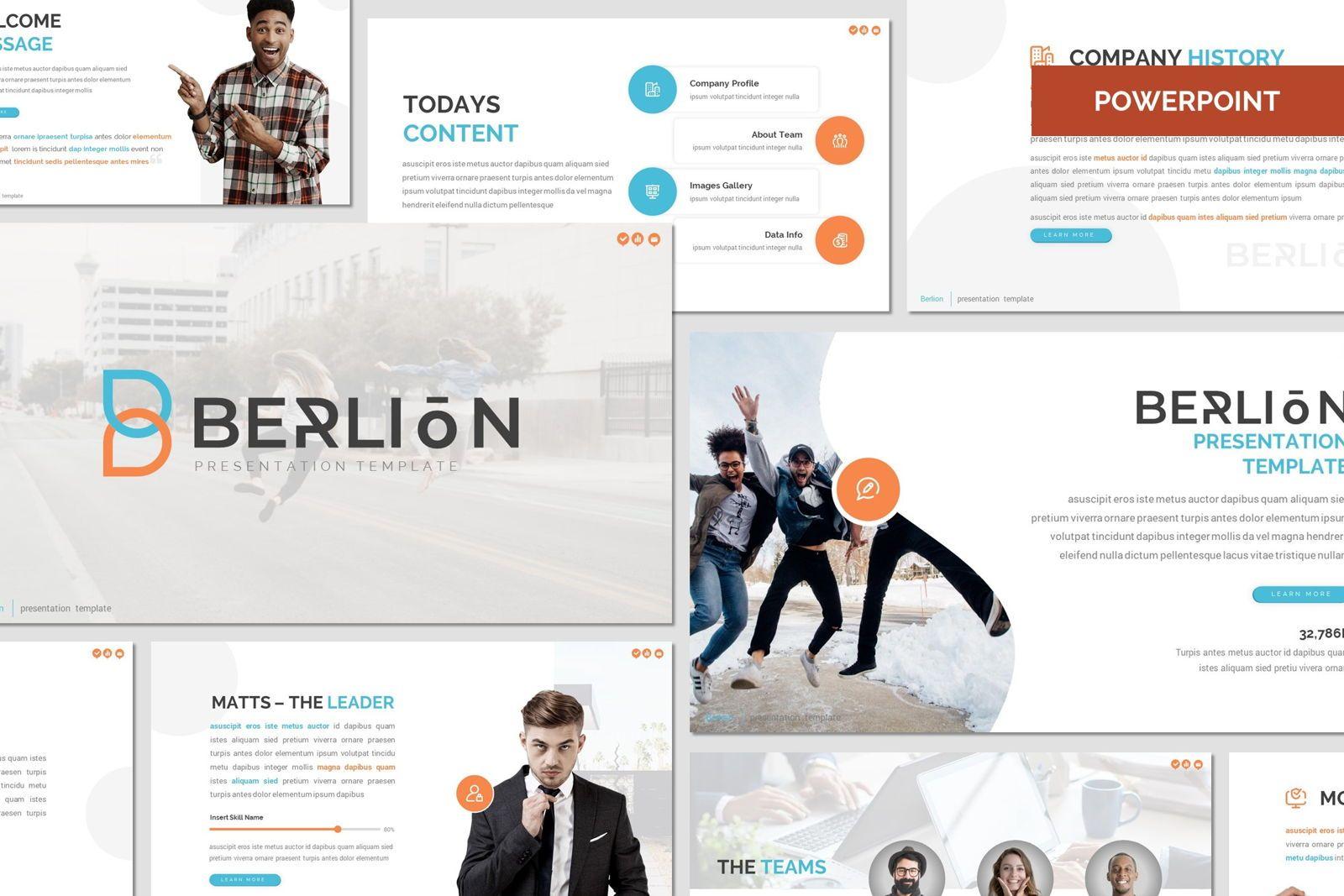 Berlion - Powerpoint Template, 08049, Presentation Templates — PoweredTemplate.com