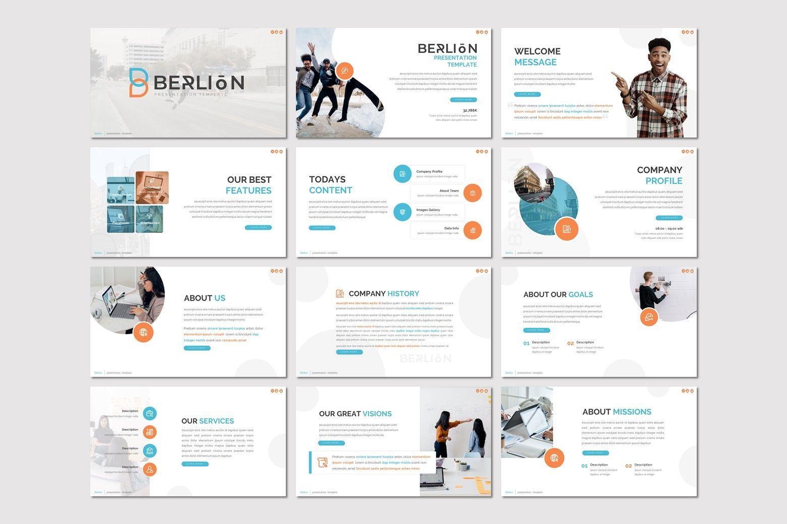 Berlion - Powerpoint Template, Slide 2, 08049, Presentation Templates — PoweredTemplate.com