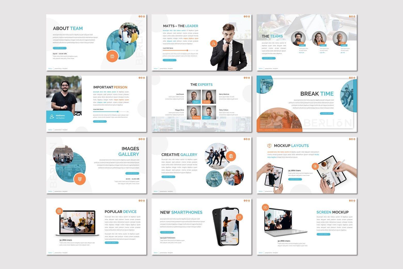 Berlion - Powerpoint Template, Slide 3, 08049, Presentation Templates — PoweredTemplate.com