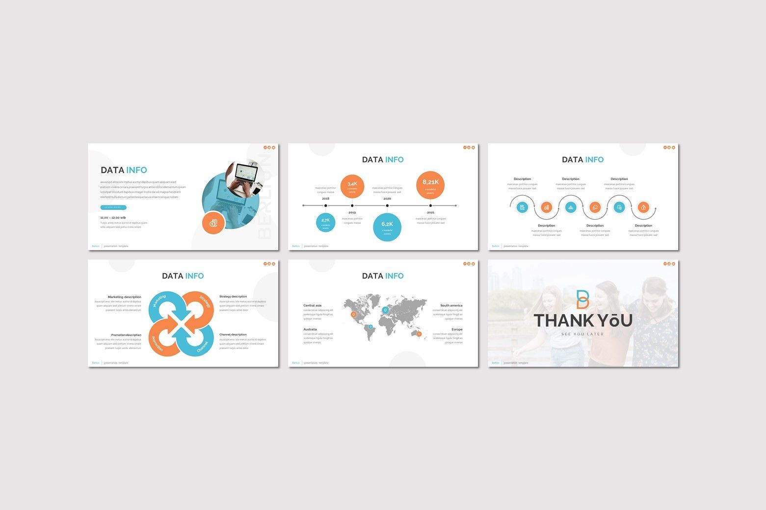 Berlion - Powerpoint Template, Slide 4, 08049, Presentation Templates — PoweredTemplate.com