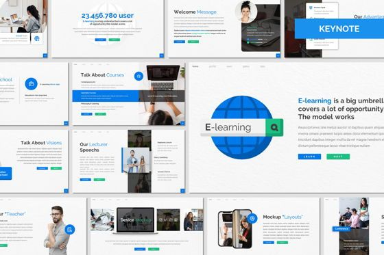 Presentation Templates: E Learning - Keynote Template #08050