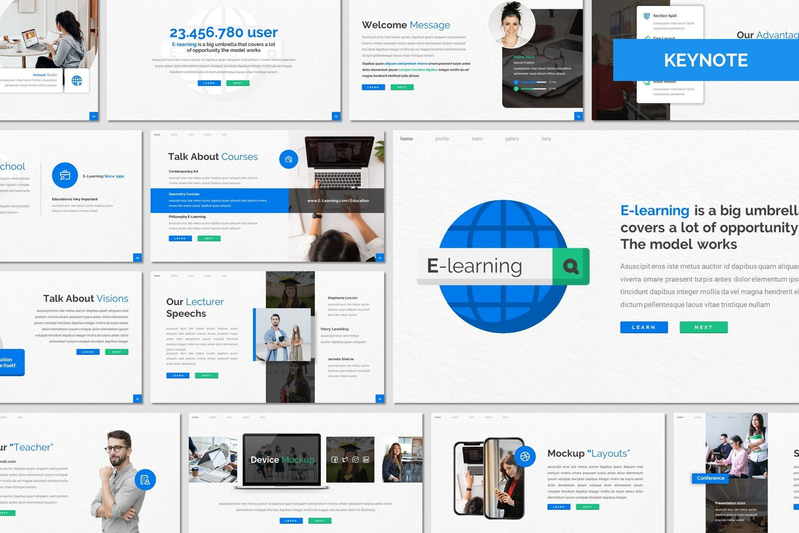 E Learning - Keynote Template, 08050, Presentation Templates — PoweredTemplate.com