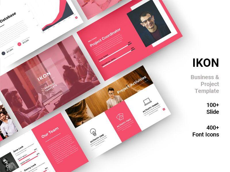 IKON Project Management Powerpoint Template, 08051, Presentation Templates — PoweredTemplate.com