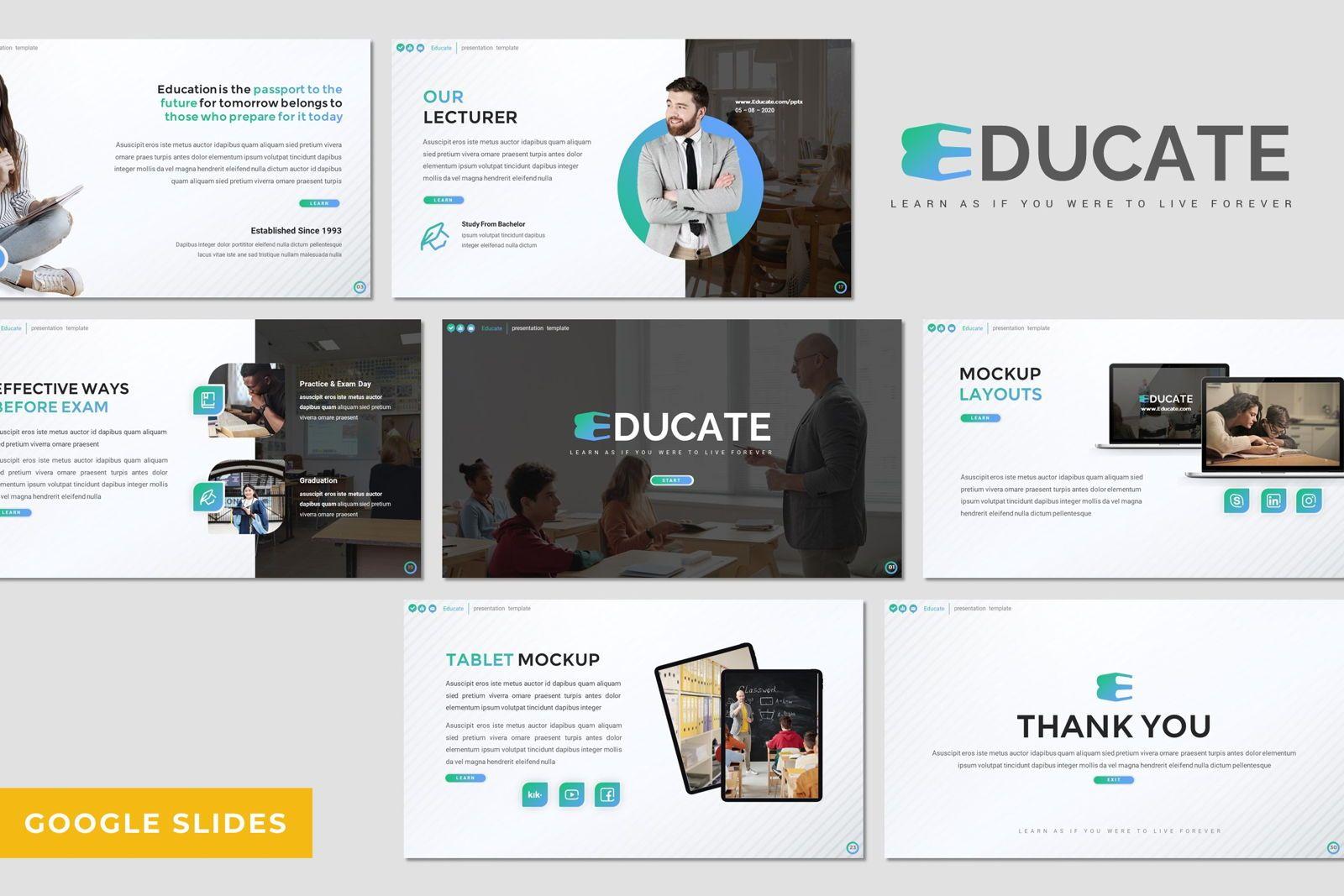 Educate - Google Slides Template, 08052, Presentation Templates — PoweredTemplate.com