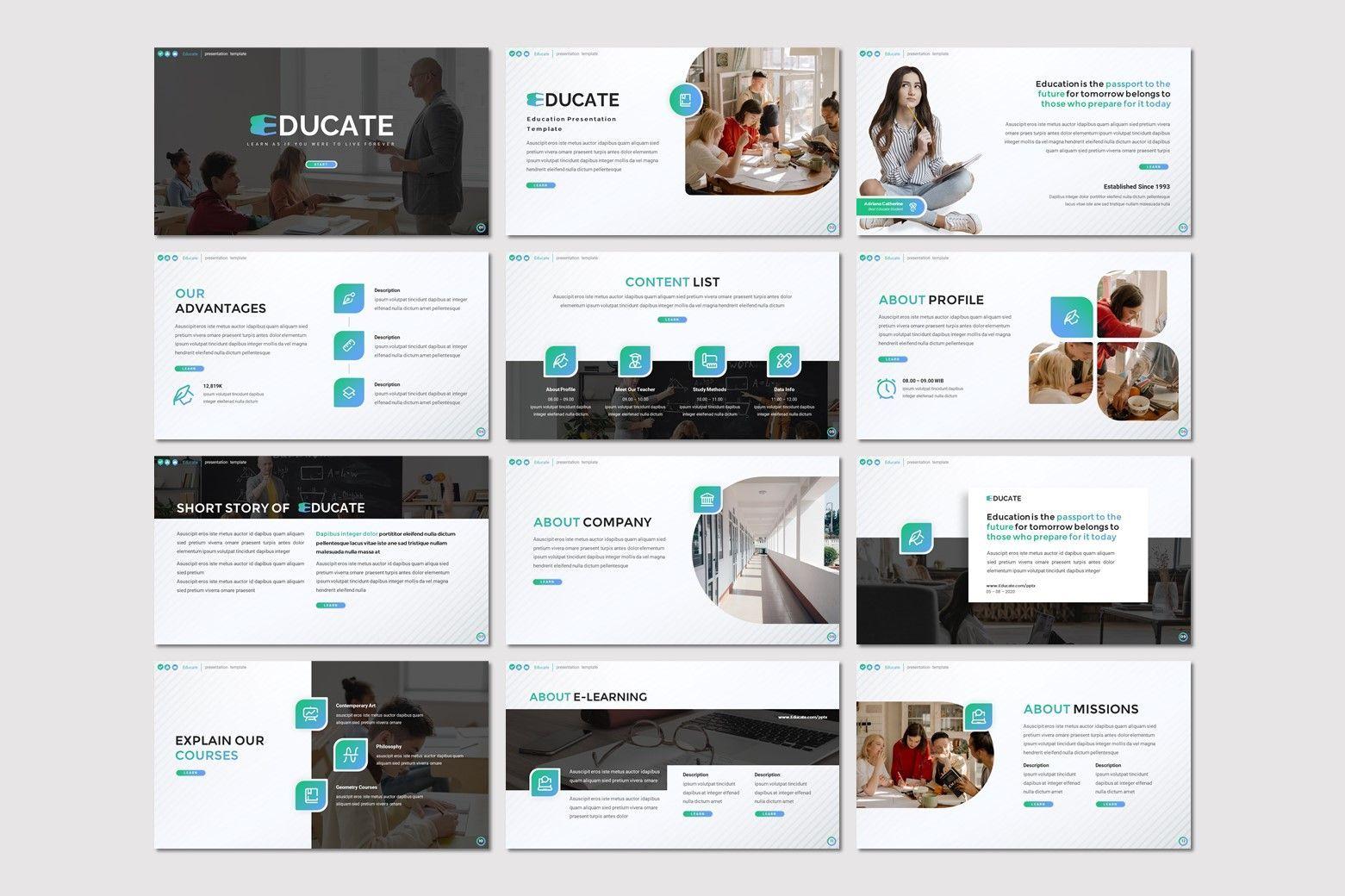 Educate - Google Slides Template, Slide 2, 08052, Presentation Templates — PoweredTemplate.com