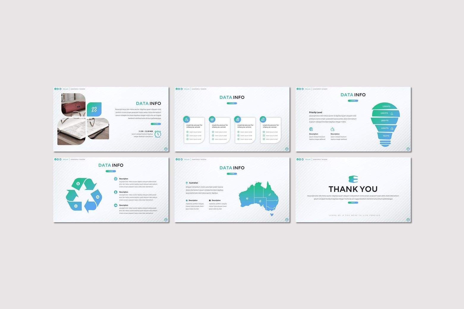 Educate - Google Slides Template, Slide 4, 08052, Presentation Templates — PoweredTemplate.com