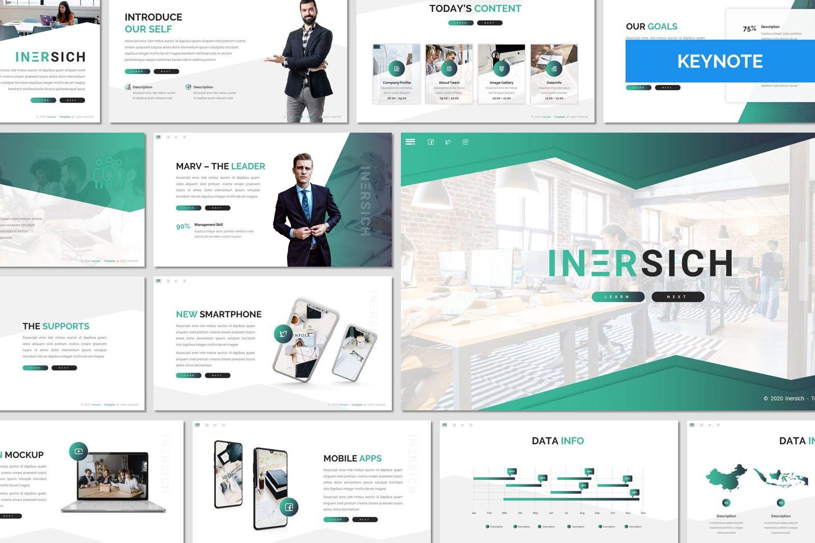 Inersich - Keynote Template, 08055, Presentation Templates — PoweredTemplate.com