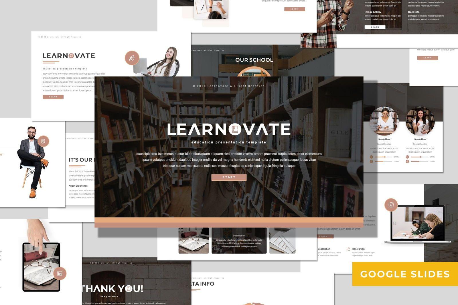 Learnovate - Google Slides Template, 08056, Presentation Templates — PoweredTemplate.com