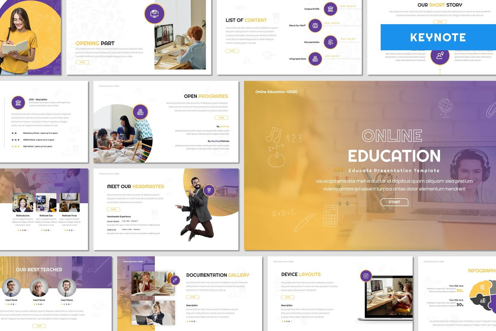 Online Education - Keynote Template, 08058, Presentation Templates — PoweredTemplate.com