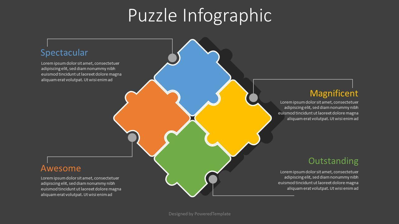 4 Puzzle Pieces Infographic, Slide 2, 08062, Infographics — PoweredTemplate.com