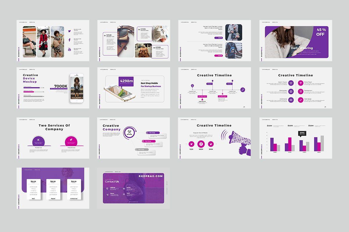 ShopBag Keynote Templates, Slide 3, 08064, Business Models — PoweredTemplate.com
