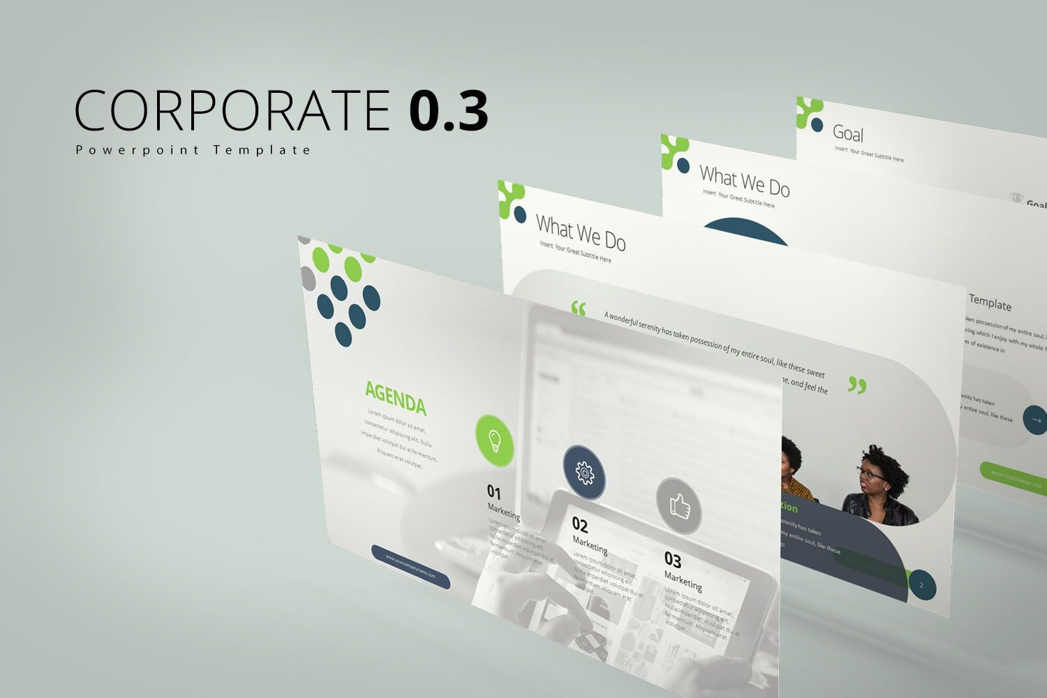 Corporate 0 3 Google Slide Templates, 08066, Business Models — PoweredTemplate.com