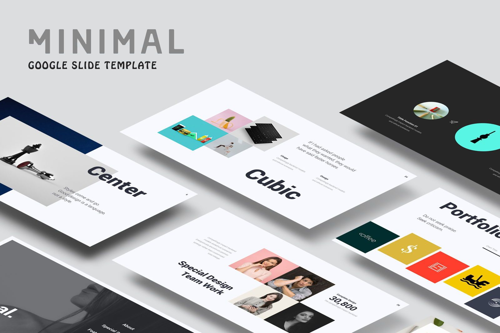 Creative Minimal Google Slide, 08070, Presentation Templates — PoweredTemplate.com