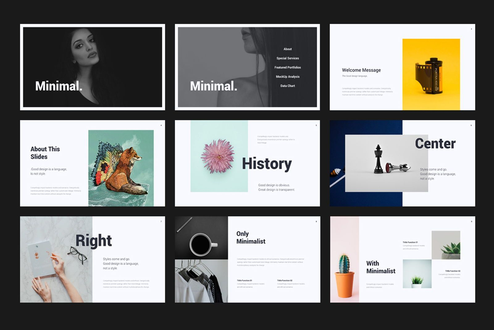 Creative Minimal Google Slide, Slide 2, 08070, Presentation Templates — PoweredTemplate.com