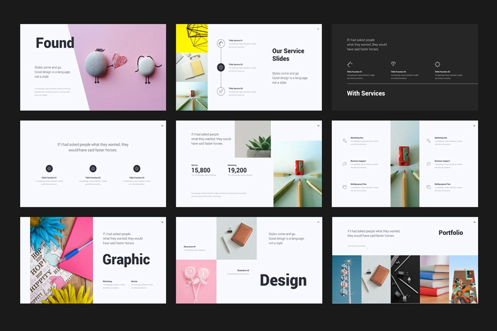 Creative Minimal Google Slide, Slide 3, 08070, Presentation Templates — PoweredTemplate.com