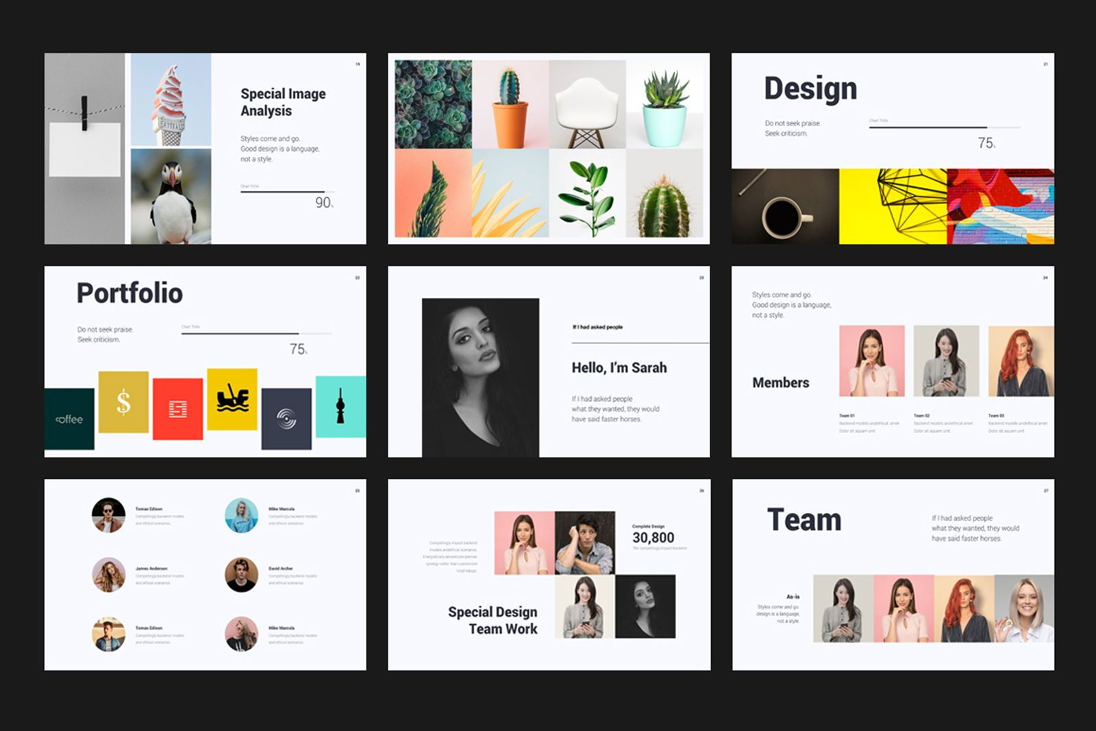 Creative Minimal Google Slide, Slide 4, 08070, Presentation Templates — PoweredTemplate.com