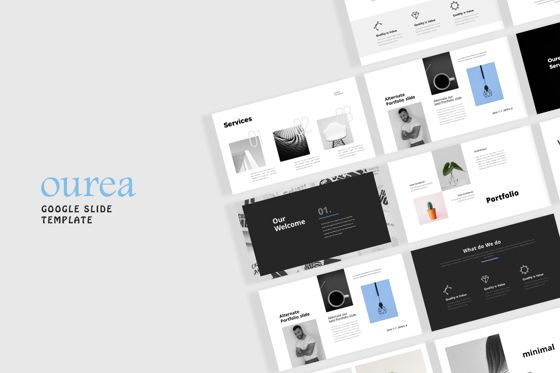 Presentation Templates: Ourea Minimal Google Slide Template #08071